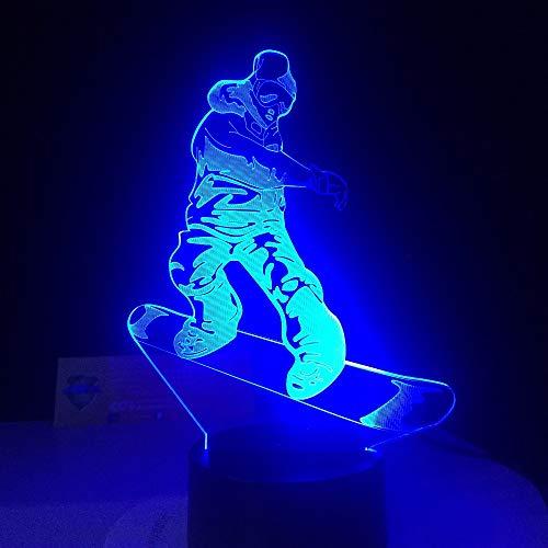 SHNDYW Luci notturne Il miglior regalo per la luce notturna da illusione 3D Illusion a LED a 7 luci...