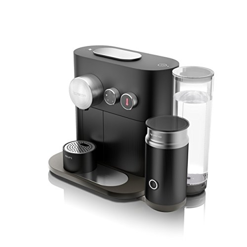 Nespresso Krups Expert Milk XN 6018-Cafetière à capsules, 19bars, arrêt automatique, 4spécialités de café, connectivité, Noir