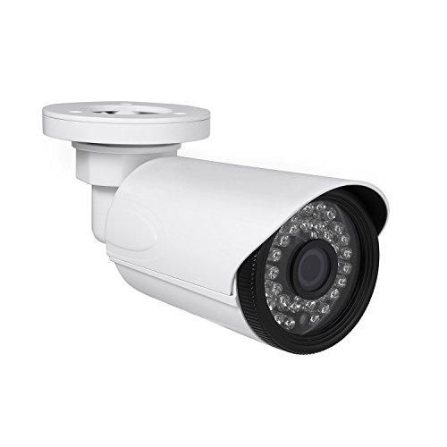 Revotech - I6038-P POE Impermeabile HD 1920 x 1080P 2.0MP da Esterno IP Telecamera 36 LED Telecamera di Videosorveglianza Bullet ONVIF con Visione Notturna P2P CCTV Cam con IR-Cut (Bianco)