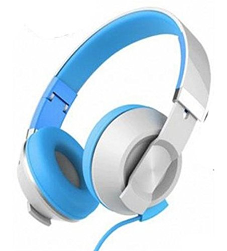 Havit HV-H2171D Foldable Wired 3.5mm Headphone With Mic, White/Blue