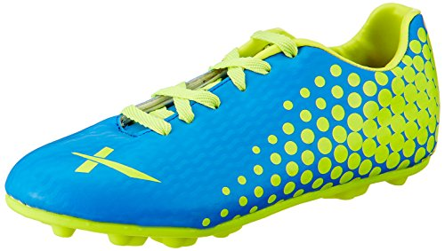 Vector X Volt Football Shoe, Adult Size 11 (Blue/Green)