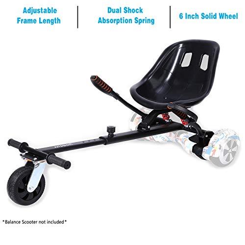 yabbay Hover Go Karts Attachment con seggiolino con Sospensione Posteriore e Grande Ruota...