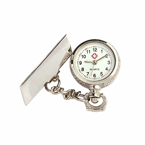 ShopyStore Creative Unisex Luxury Fob Watches Arabic Metal Fibula Nurse White Dial Quartz Pocket Wat