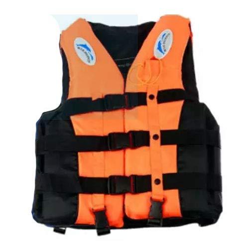 WTH Whistle+Adult Life Jacket Swimming Boating Sailing Drifting Life vest S (Orange)