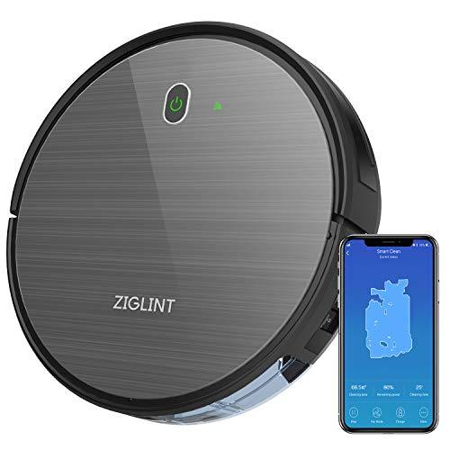 Aspirapolvere Robot D5 1800Pa ZIGLINT, App Controllo,Alexa e Google Home Connettività, 4...