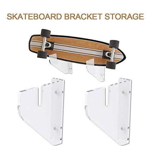 gaeruite Skateboard Staffa a Parete, Skateboard a Parete Montaggio a Parete Skateboard Supporto a...