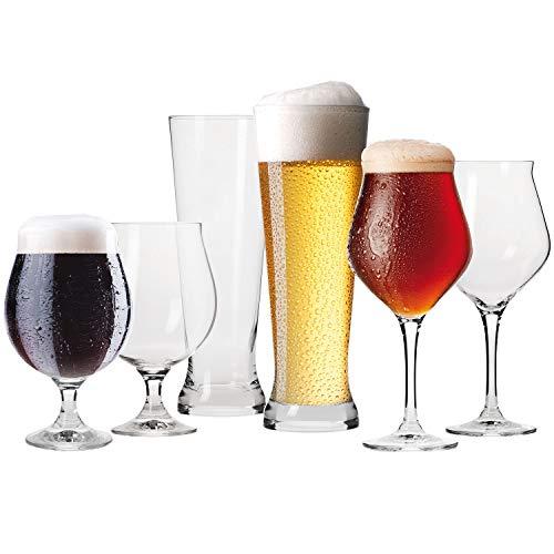 Krosno Degustazione Connaisseur Set Bicchieri Calici Birra Vetro | 2X Calice 420 ML | 2X Pokal 500...