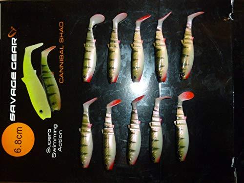 Savage Gear - Esche morbide per posatoi da 6,8 cm, 10 Pezzi per Confezione