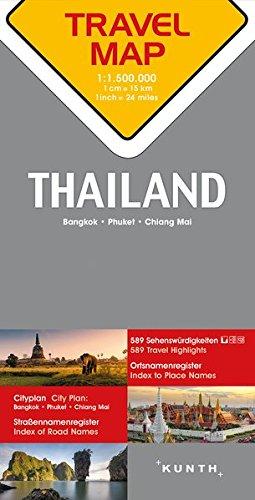 Carte de voyage Thaïlande 1 : 1,5 Mio