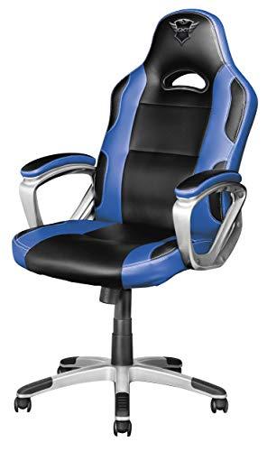 Trust GXT 705B Ryon Sedia Gaming Ergonomica, Progettata per Offrire Ore di Confortevoli Sessioni di Gioco, Blu
