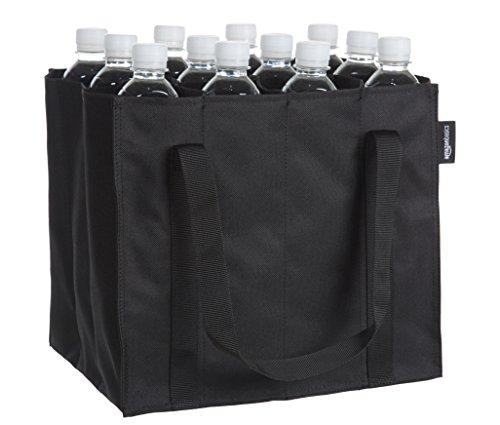 AmazonBasics - Flaschentasche, 12 Fächer, 0,75 l Flaschen, Schwarz