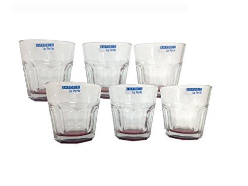 Le Perle Set 6 Bicchieri Vino Ischia Rosso