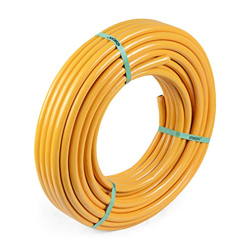 Sharpex Hybrid Heavy Duty Garden Hose | Light weight Durable Hose pipe Best Choice for Watering and Washing, 10 MT - Great for Industrial or Domestic Use in Your Yard or Garden - 10 MT