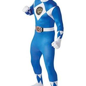 Rubies 810948M Disfraz Oficial de Ranger Azul 2da Piel, Adulto, Mediano