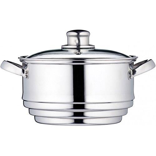 Kitchen Craft Clearview - Vaporiera universale in acciaio INOX