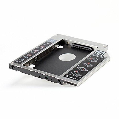 Salcar - 2nd HDD/SSD SATA 3.0 HDD Hard Drive(2.HDD SATA III Unibody SuperDrive Caddy) Adattatore...
