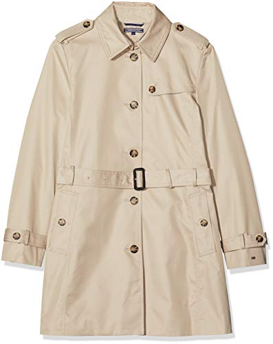 Tommy Hilfiger HERITAGE SINGLE BREASTED TRENCH, Cappotto Donna, Beige (Medium Taupe 055), XL (Talla produttore: XL)