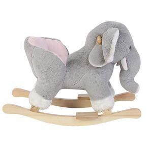 Caballito Balancín para Bebé Balancín de Peluche para Niños Juguete de Mecedora Infantil en Forma de Elefante
