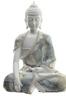 Decorativo floral Relajación de Buda figura decorativa–altura 23cm ancho 17cm Profundidad 10cm