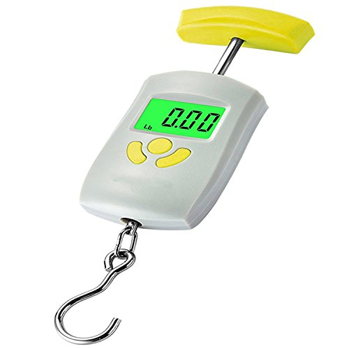 Atom Selves-EbalHook A 304 Digital Luggage Weighing Scales, 50kg (Grey)