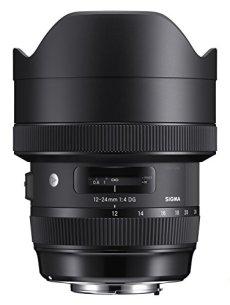 Sigma F4 DG AF HSM Art - Objetivo para cámara para réflex (12-24 mm), negro