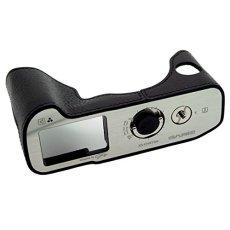 GARIZ–Media de de piel para Fuji Fujifilm Finepix X DVB-T2o XT2(piel, para cámara, bolso, foto de) con base (XS de aluminio pulido chxt2bk)