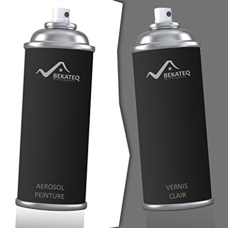 2x400ml peinture voiture aerosol pour peugeot ktv noir. Black Bedroom Furniture Sets. Home Design Ideas