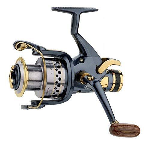 Zghzsc Carp Fishing Reel Bait Runner Free Runner Spinning spola in Metallo e Manico Intercambiabile (Color : -, Size : SW60)