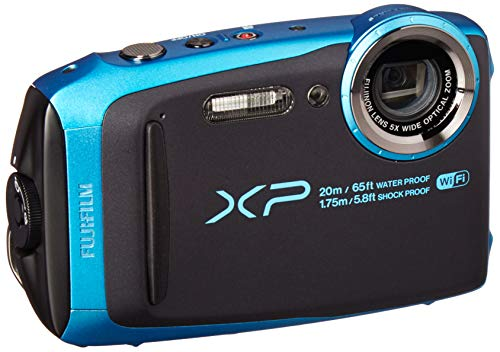 Fujifilm FinePix XP120 Waterproof Digital Underwater Camera USA Model (Sky Blue)
