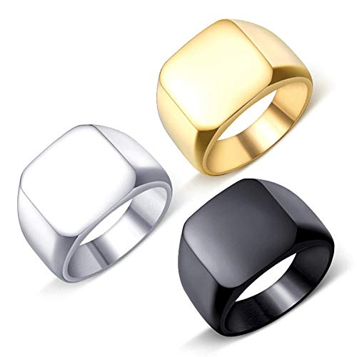 YouBella Jewellery Stainless Steel Combo of 3 Rings for Boys and Men