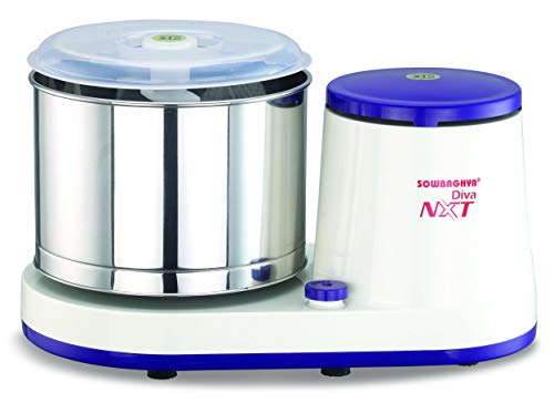 Sowbaghya 2Ltr Diva NXT Wet Grinder (with Attachments) (White with Violet)