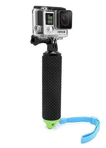 MyGadget Impugnatura Galleggiante Waterproof x Action Camera - Bastone con Tasca Impermeabile - Hand Grip per p.e. GoPro Hero 7 6 5 4 3+ 3 Xiaomi Yi - Verde
