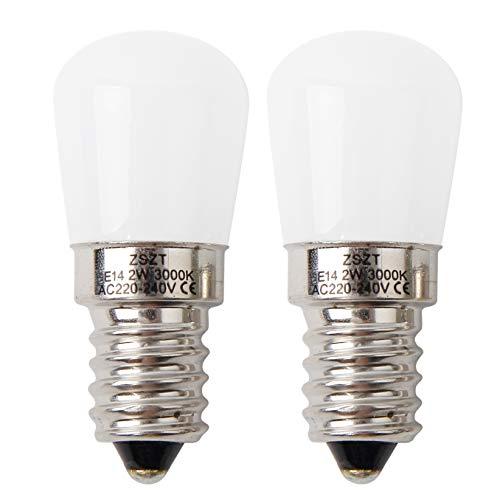 Lampadina per frigo E14 LED 2W ZSZT Bianco caldo 3000K (15W alogena lampadina equivalente) per...