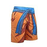 Mxssi Pantaloncini Spiaggia Outdoor Uomo Estate Uomo Pantaloncini Ginnastica Asciugatura Rapida Uomo Cartoon Goku Dragon Ball Stampa Pantaloni Allenamento Elastico 9 Stili