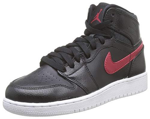 Nike Air Jordan 1 Retro High BG, Scarpe da Basket Bambino, Palestra Rosso-Nero-Bianco, 38 EU