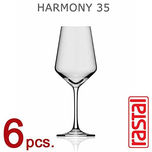 Collezione HARMONY - set n° 6 Calici da Degustazione Universale H 35 - Capacità 35 cl - RASTAL®