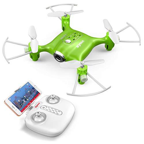 Mini Micro Drone Piccolo con Telecamera FPV Syma X21W Telecomandato Quadricottero Droni per Bambini...