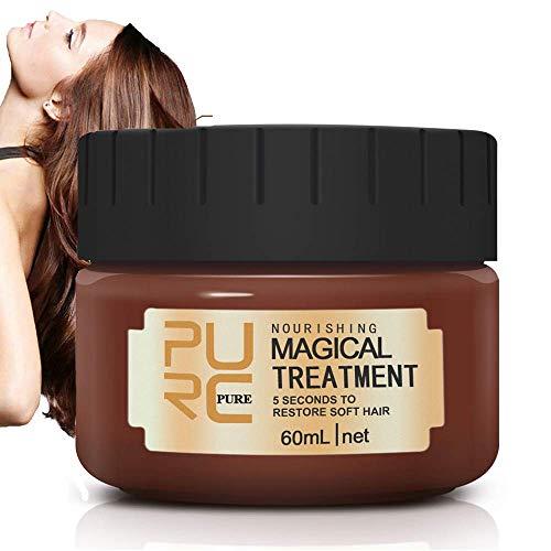 Magical Treatment Haarmaske, Advanced Molecular Hair Roots Treatment Haarspülung, 5 Sekunden zur Wiederherstellung von Geschmeidigem Haar Professional für Beschädigtes, Trockenes Haar 60ml