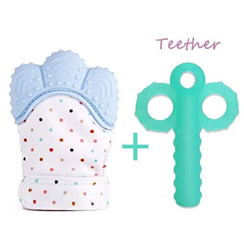 bambino crescendo mitten, piccolo guanto, un rilassante teether & dentizione antidolorifico...