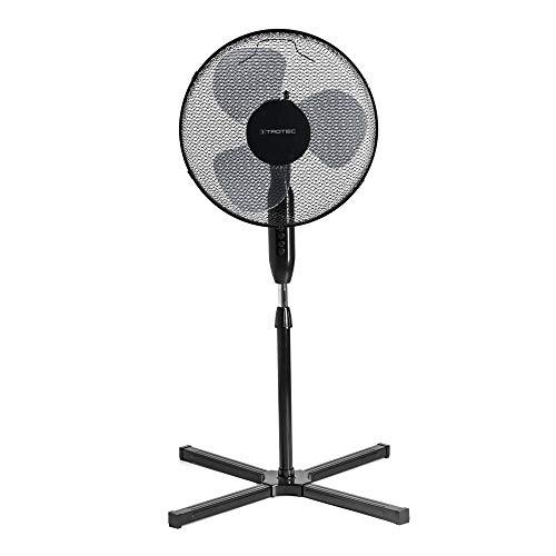 TROTEC - Standventilator TVE 17 S, automatische Oszillation um 80 °, Abschaltfunktion, schwarz