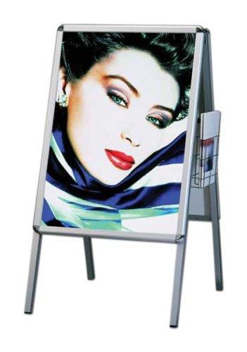 Supporto per poster della linea lusso in alluminio Rondo DIN A1, a due lati (per 2 poster) con...