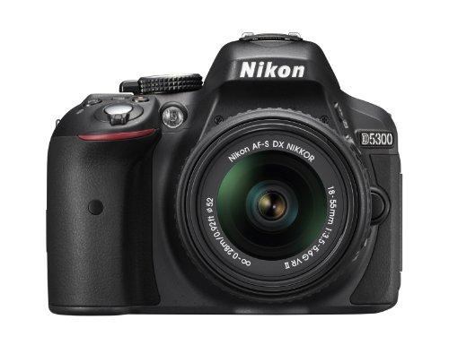 Nikon D5300 Fotocamera Reflex Digitale con Obbietivo Nikkor AF-P 18/55VR, 24.1 Megapixel, LCD HD Regolabile da 3', Nero