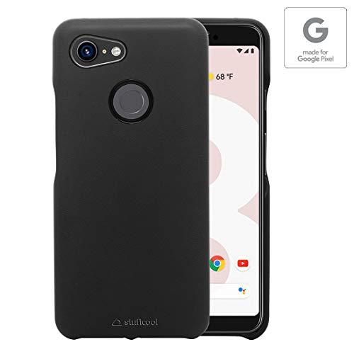 "Stuffcool Joli Elegant PU Leather Back Case Cover for Google Pixel 3 (2018) 5.5"" - Black (Authorized Made for Google Pixel Accessory)"