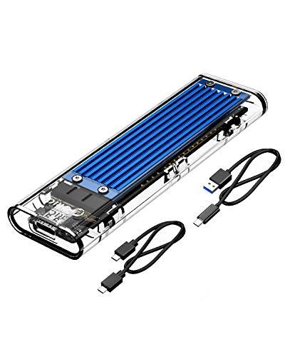 ORICO NVME da M.2 a Type-C USB3.1 Gen2 da 10 Gbps Trasparente External Hard Drive Adapter per 2280...