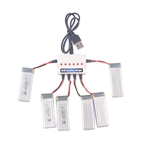 YouCute 6PCS 900mAh aggiornamento Batteria e caricabatterie 1to6 per JJRC H37 EACHINE E50 E50S Rc...