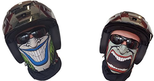 Salt Armour 'svoki Two Sided Foulard Tuyau Rigide Masque Protection Contre Le Froid Double Visage Masque Halloween Ski Snowboard Pêche Chasse Vélo Moto Paintball