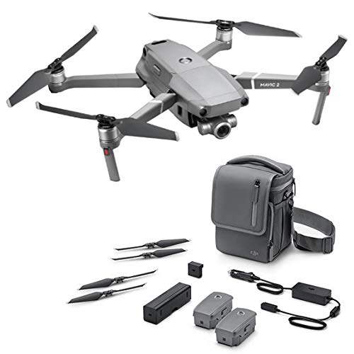 DJI Mavic 2 Zoom + Fly More - Kit con Drone quadrocopter (Zoom ottico di 24-48 mm, videocamera,...
