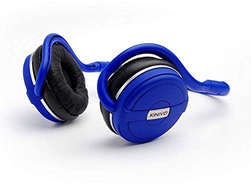 Kinivo BTH240 Limited Edition Bluetooth Stereo Headphone - Supports Wireless Music Streaming and Hands-Free Calling (Cool Blue)