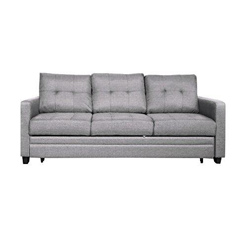 Furniture 247 - Divano letto a 3 posti, grigio