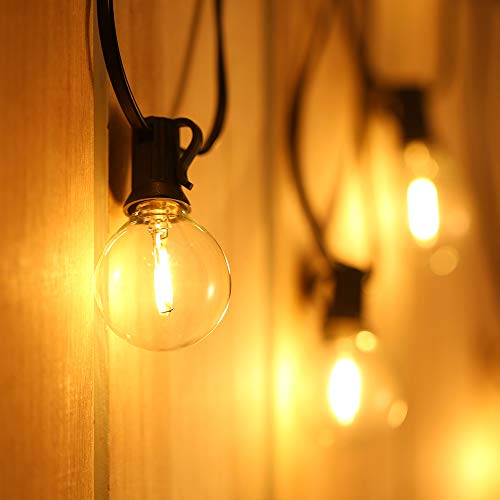Catene Luminose LED,Tomshine Illuminazione Giardino Luci Stringa Lampadina con 12+1 G40 LED Bulbi...